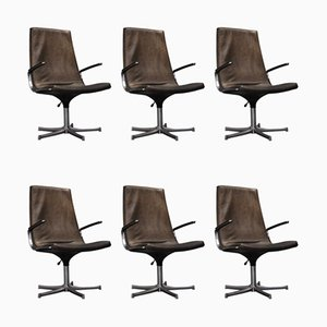 Desk Chairs by Bernd Münzebrock for Walter Knoll / Wilhelm Knoll, 1970s, Set of 6