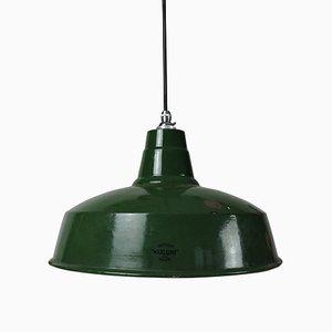 Lampe à Suspension Vintage en Émail Vert de Maxlume
