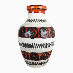Mehrfarbige große Vintage Fat Lava Vase von Scheurich