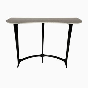 Black Laquered Wood Console Table by Rava Enrico, 1950s