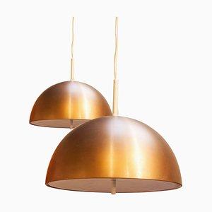Mid-Century Modern Metalic Ceiling Lamp, 1950s