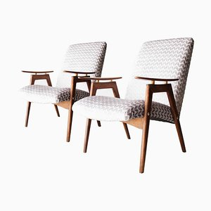 Rosewood Armchairs by Jaroslav Smidek, 1960s, Set of 2