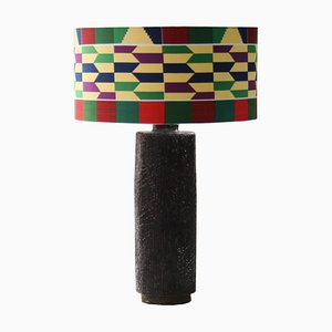 Cylindrical Ceramic Table Lamp by Emilio Rey, 1960s