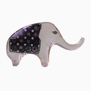 Escultura de elefante brasileña de metacrilato de Abraham Palatnik, años 70