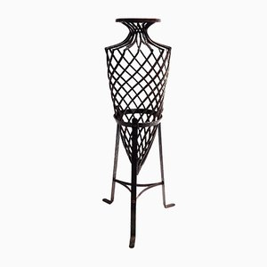 Wrought Iron Vase, 1970s