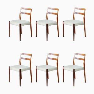 Mid-Century Esszimmerstühle aus Palisander von Johannes Andersen, 6er Set