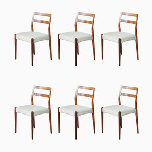 Mid-Century Rosewood Dining Chairs by Johannes Andersen, Set of 6