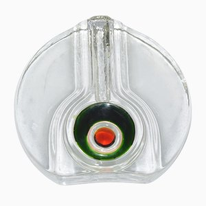 Vase en Verre par H. Düsterhaus pour Walther Glass, années 70