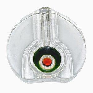 Vaso in vetro di H. Düsterhaus per Walther Glass, anni '70