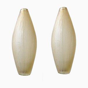 Jarrones de cristal de Murano de Murano, años 50. Juego de 2