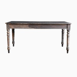 Antique Rustic Wooden Farmhouse Table