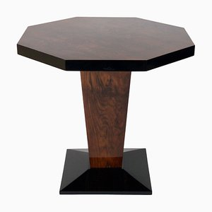 Black Walnut Octagonal Side Table, 1930s