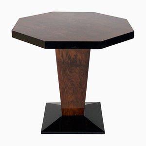 Table d'Appoint Octogonale Noire en Noyer, années 30