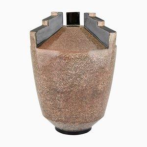 Vase Art Déco en Céramique par Marcel Guillard pour Etling Paris, années 20