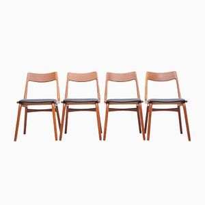 Teak Boomerang Dining Chairs by Alfred Christensen of Slagelse Møbelværk, 1960s, Set of 4