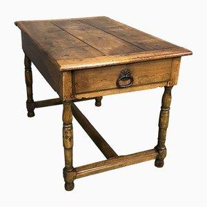 Tavolo da pranzo antico rustico in legno di noce