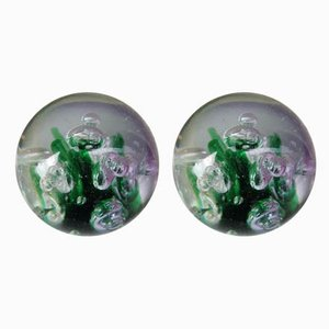 Murano Paperweights, 1970s, Set of 2
