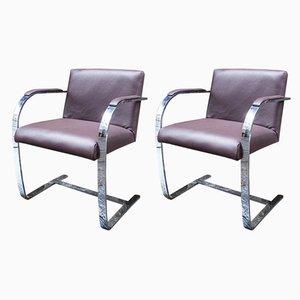 Chaises de Salon Brno par Ludwig Mies van der Rohe pour Knoll Inc. / Knoll International, années 80, Set de 2