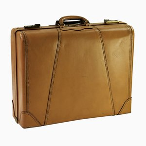 Tan Leather Suitcase from Gladiator, 1950s