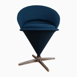 Kegelförmiger dänischer Sessel von Verner Panton, 1970er