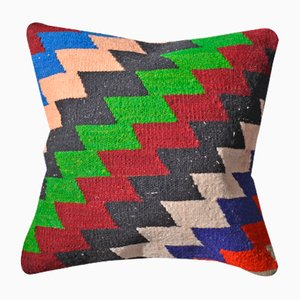 Multicolored Boho Kilim Cushion Cover by Zencef Contemporary