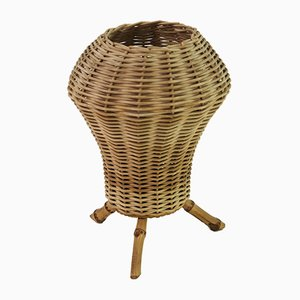 Rattan and Bamboo Table Lamp, 1950s