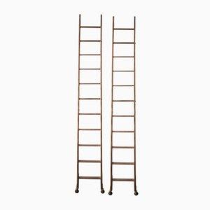 Bookshelf Ladders, 1930s, Set of 2