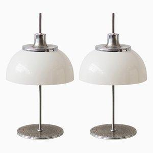 Lampes de Bureau de Guzzini, années 70, Set de 2