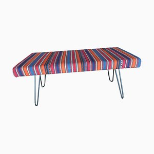 Vintage Turkish Kilim Bench, 1980s