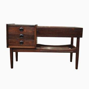 Mueble bajo pequeño de palisandro con macetero, años 50