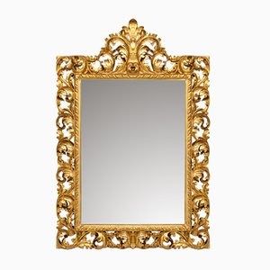 Antique Mirror with a Gold Leaf Frame