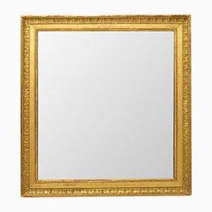 Antiker rechteckiger Spiegel mit vergoldetem Rahmen