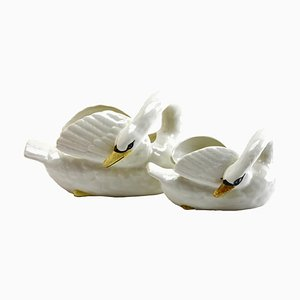 Antique Swan Jardiniere Set from Imperiale Nimy, Set of 2
