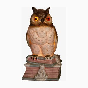 Porcelain Owl Air Purifier or Table Lamp, 1930s