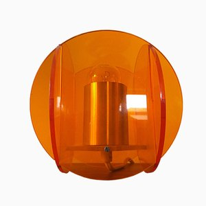 Lámpara de mesa Mid-Century de plexiglás, años 70