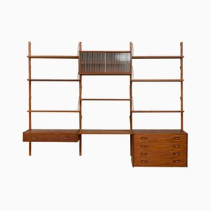 Teak Wall Unit by Preben Sorensen for Randers Møbelfabrik, 1960s