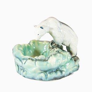 Cenicero Art Déco vintage en forma de oso polar de Ditmar Urbach, años 20