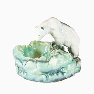 Vintage Art Deco Polar Bear Ashtray from Ditmar Urbach, 1920s