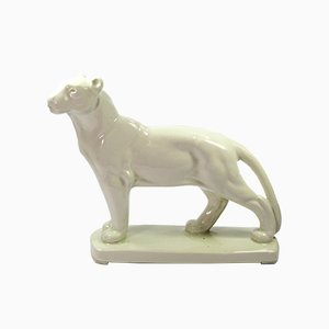 Vintage Ceramic Lion Sculpture