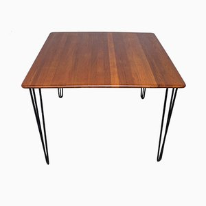 Tavolo da pranzo in teak ed acciaio di A/S Mikael Laursen, anni '60