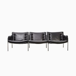 Modernist Leather Sofa BZ12 Sofa by Martin Visser for t Spectrum, 1970s