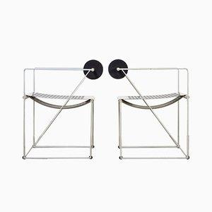 Vintage Seconda Esszimmerstühle von Mario Botta für Alias, 2er Set