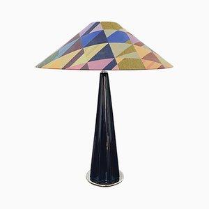 Lámpara de mesa grande de cerámica de Leola, años 80