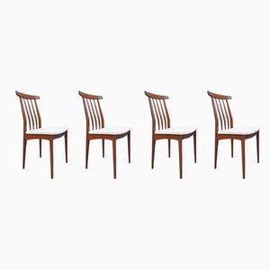 Esszimmerstühle aus Afromosia von A. Younger Ltd., 1960er, 4er Set