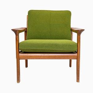 Sillón de teca de Arne Wahl Iversen para Komfort, años 60