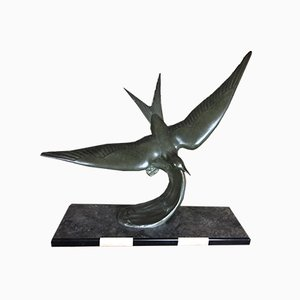 Vintage Art Deco Seagull Sculpture by G. Franjou