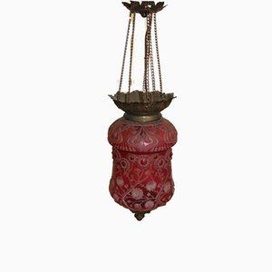 Rote Laternenlampe im Jugendstil