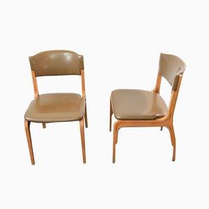 Esszimmerstühle von Gianfranco Frattini für Cantieri Carugati, 1964, 2er Set