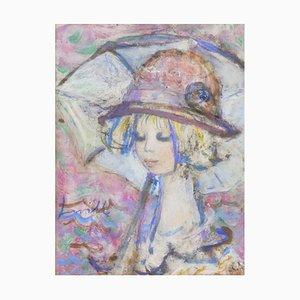 Pintura al óleo sobre lienzo de Henri La Ville para Henri La Ville, años 60