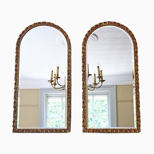 Arched Gilt Overmantle Mirrors, 1950s, Set of 2